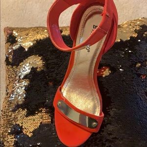 Shoes - Orange and gold heels